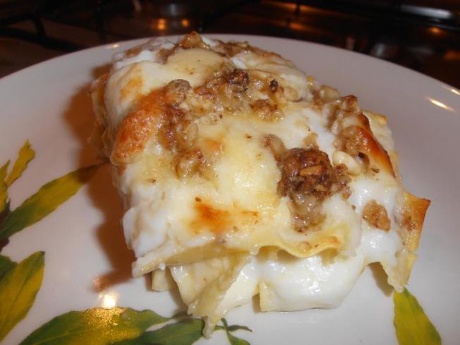 lasagne formaggio e noci
